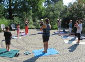 Yoga class - outside