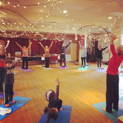 Yoga class - inside